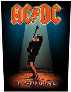 AC/DC Let There Be Rock jumbo sized sew-on cloth backpatch   -mm-